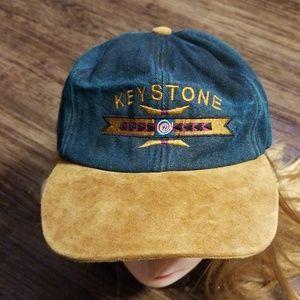 Vintage Keystone Ski Resort Suede Embroidered Cap